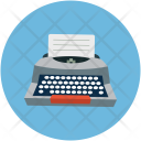 Typewriter Typing Tool Icon