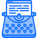 Typewriter Article Post Icon