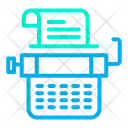 Line Type Typewriter Icon