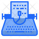 Typewriter Copyright Typing Icon