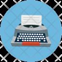 Typewriter Write Paper Icon