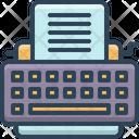 Typewriter Keys Type Icon
