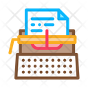 Typewriter Writer Paper Icon
