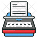 Stenographer Typing Tool Office Material Icon