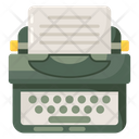 Typewriter Copywriter Inkjet Icon