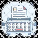 Copywriting Office Supplies Typewriter Icon