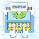 Copywriting Office Supplies Typewriter Icon
