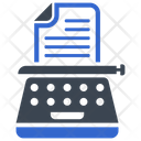 Machine Typewriter Typing Icon