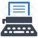 Office Typewriter Typing Machine Icon