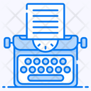 Typewriter Copywriter Composing Novel Icon