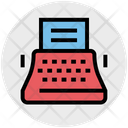 Typewriter Writer Copywriter Icon