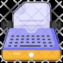 Typewriter Copywriter Composing Novel Icon