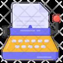 Writing Machine Typewriter Stenographer Icon