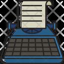 Typewriter Typing Keyboard Icon