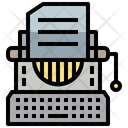 Typewriter Law Justice Icon