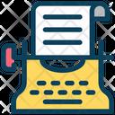 Typewriter Journalism Machine Icon