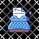 Typewriter Document Journalism Icon