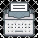 Typewriter Office Technology Icon