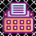 Typewriter Keyboard Stenographer Device Icon