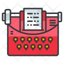 Typewriter Copywriter Icon
