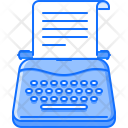 Typewriter Writer Test Icon