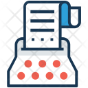 Content Building Typewriter Icon
