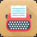 Typewriter Type Typing Icon