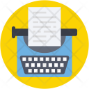 Typewriter Typing Stenographer Icon