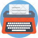 Typewriter Typing Document Icon
