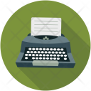 Typewriter Content Writer Icon