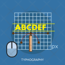 Typhography Font Mouse Icon