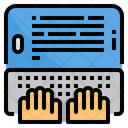 Typing Blog Smartphone Icon