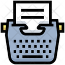 Business Financial Typing Icon