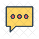 Typing Comment Bubble Icon