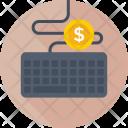 Typing Dollar Earning Icon