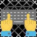 Computing Hands Keyboard Icon