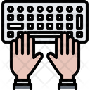 Typing hand Icon