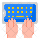 Typing In Smartphone Icon