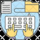 Typist Keyboard Typing Icon
