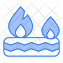 Tyre Burning Fire Icon