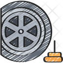 Tyre Spike Wheel Policing Icon