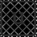 U Lowcase Letter Icon