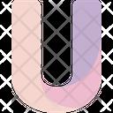 U Sign Alphabet Icon
