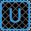 Key U Upper Icon
