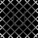 U Letter Key Icon