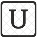 U Uppercase Letter Icon