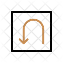 U Turn Arrow Direction Icon