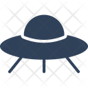 Aircraft Flying Saucer Science Icon