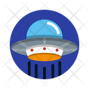 Ufo Unidentified Flying Object Space Icon