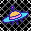 Space Ufo Contour Icon